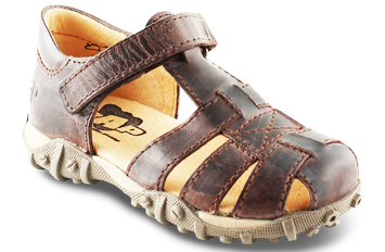 Image of   Arautorap (RAP) sandal med lukket hæl, brun