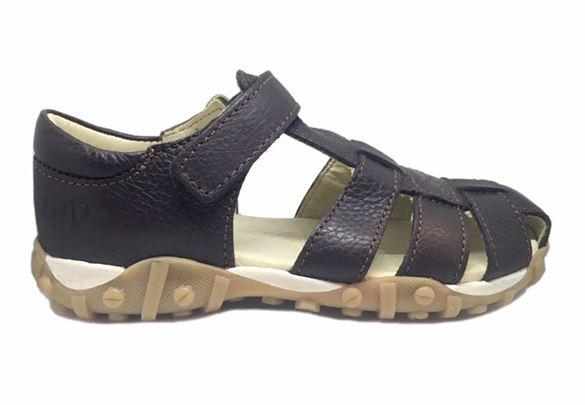 Billede af Arautorap (RAP) sandal med lukket hæl, brun