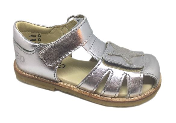 Image of Arauto RAP pigesandal m/stjerne, sølv (Arautorap-sandal-12027-05-silver)