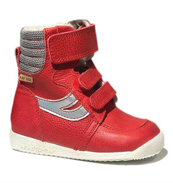 Image of Arautorap (RAP) rød sporty velcro vinterstøvler (Arautorap-støvle-72087-rød)