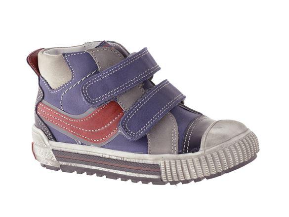 Image of   BabyBotte Karavane drengesko, blå m/rød