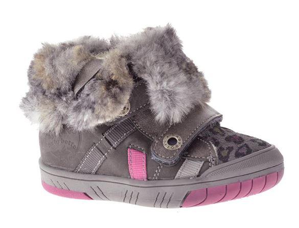 Billede af BabyBotte ArtiwinieFl støvletter, foret - grå m/pink