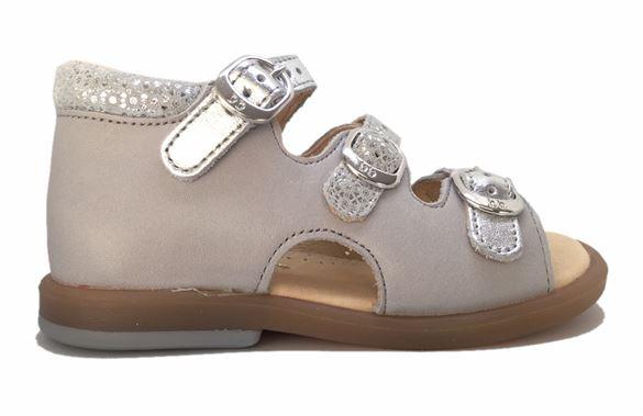 BabyBotte sandal Tik, grå/sølv