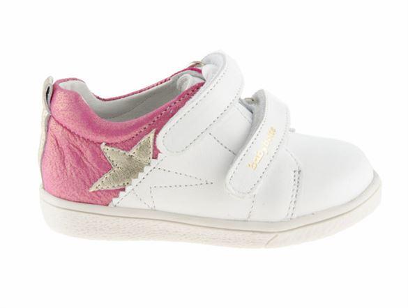 Image of   BabyBotte Akemi pigesko / sneakers, hvid/pink
