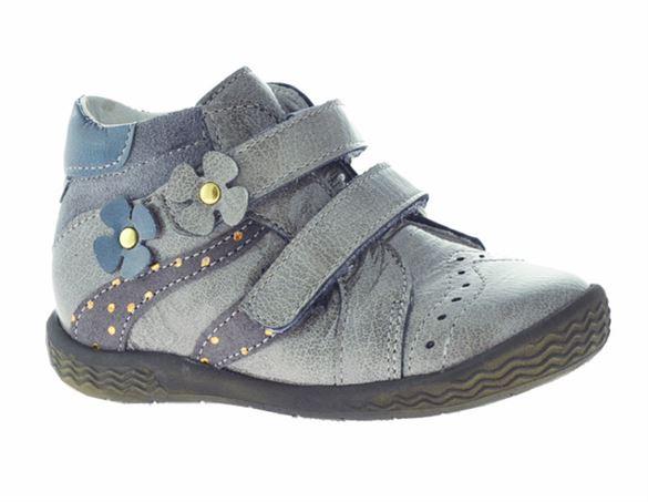Image of   BabyBotte Azalys, velcrosko, grå lak