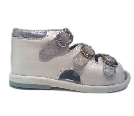 Billede af BabyBotte sandal Tik, metallic hvid / sølv