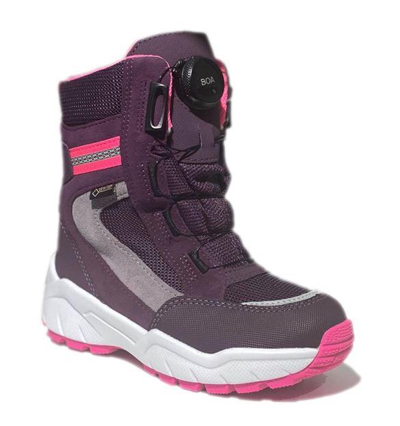 Superfit vinterstøvler m/BOA lukning, lilla/pink