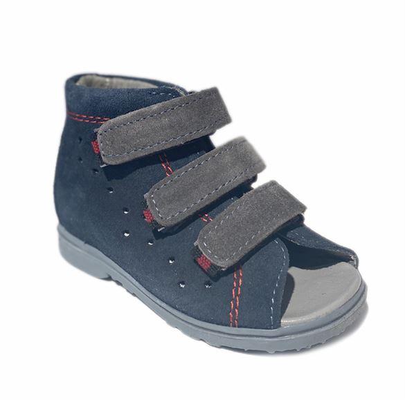 Image of Dawid sandal, navy/grå - sandal med ekstra støtte (Dawid-sandal-navy-1041G)