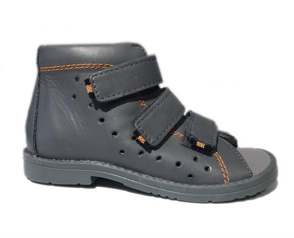 Image of Dawid sandal, grå - sandal med ekstra støtte (Dawid-sandal-graa-1041LSZ-28)