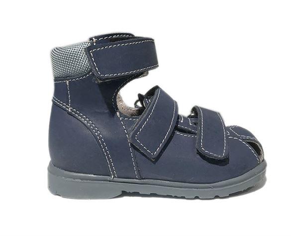 Image of Dawid sandal, blå - sandal med ekstra støtte og lukket snude (Dawid-sandal-navy-1242G-27)