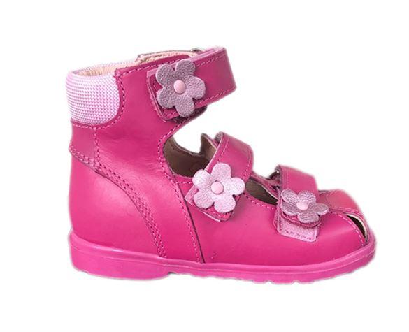 Image of Dawid sandal, pink - sandal med ekstra støtte og lukket snude (Dawid-sandal-pink-1241RC-23)