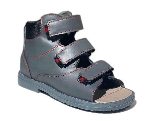 Image of Dawid sandal, grå - sandal med ekstra støtte (Dawid-sandal-graa-953sz)