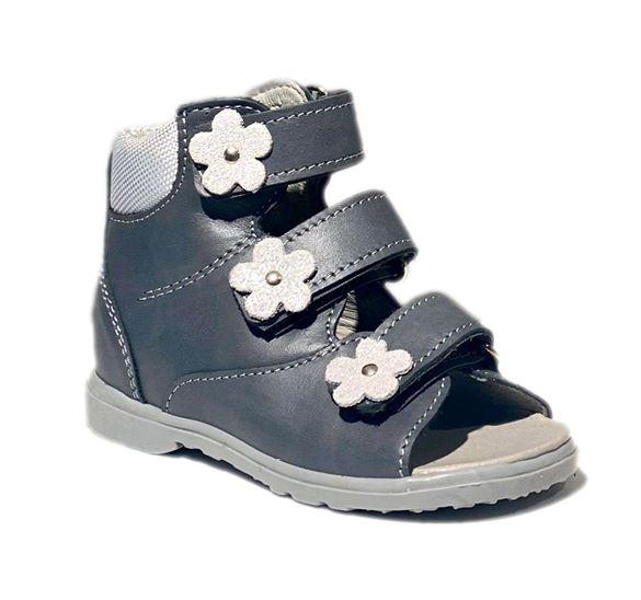Image of Dawid pigesandal, grå - sandal med ekstra støtte (Dawid-pigesandal-graa-953szdz)