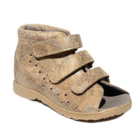 Dawid sandal, guld - pigesandal med ekstra støtte