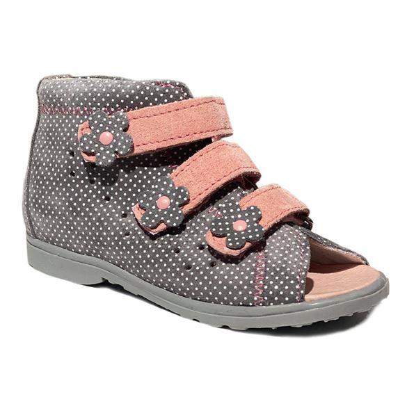 Image of Dawid sandal, grå/rosa - sandal med ekstra støtte (Dawid-sandal-graa-rosa-1042-202)
