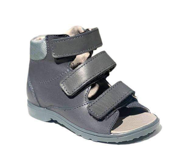 Image of Dawid sandal, grå - sandal med ekstra støtte (Dawid-sandal-graa-953sz+-23)