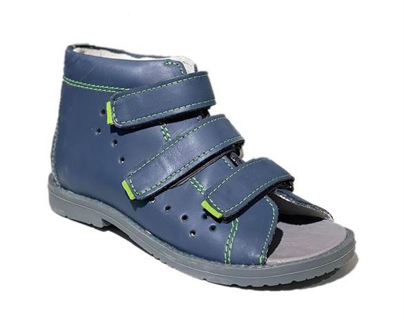 Image of Dawid sandal, blå - sandal med ekstra støtte (Dawid-sandal-graa-1042LGJ)