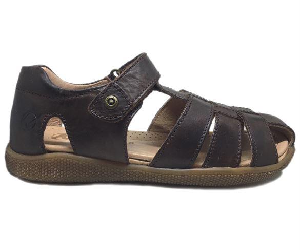 Image of Naturino Gene sandaler med lukket hæl og tå, brun (Naturino-gene-brunSS18)