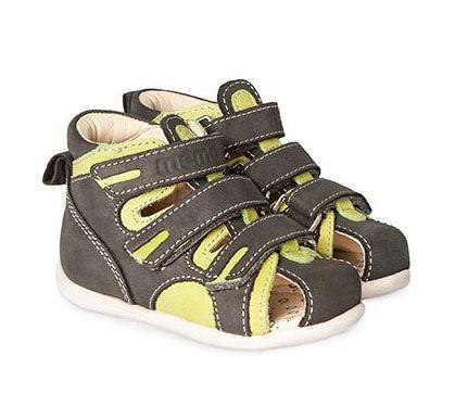 Memo Bambi sandal, grøn - drengesandal med ekstra støtte