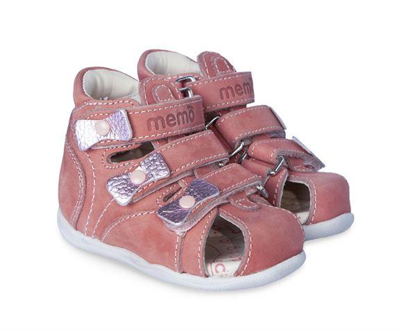 Memo Bambi sandal, pudder pink - pigesandal med ekstra støtte