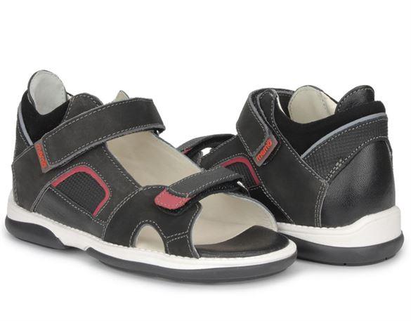 Memo Capri sandal, sort - sandal med ekstra støtte