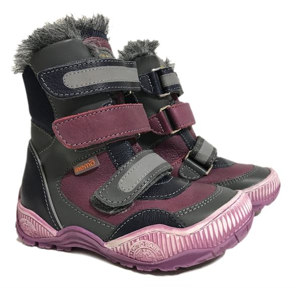 Image of   Memo Colorado vinterstøvler med ekstra støtte, violet
