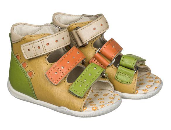 Billede af Memo Dino, sandal, gul - sandal med ekstra støtte