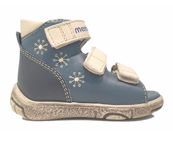 Billede af Memo Dino, sandal, navy m/stjerner - sandal med ekstra støtte