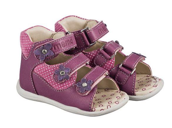 Memo Doris sandal, lilla - pigesandal med ekstra støtte