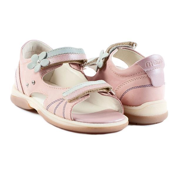 Image of Memo Jaspis, pigesandal, rosa/blå - pigesandal med ekstra støtte (Memo-Jaspis-sandal-Pink-Blue)
