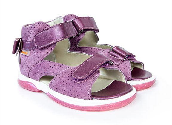 Memo Juliet sandal, lilla - sandal med ekstra støtte