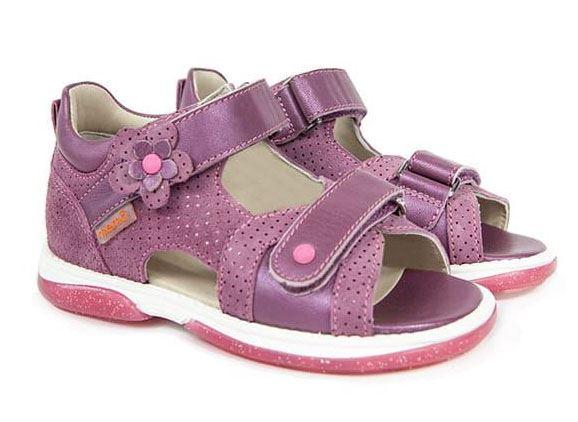 Memo Kristina sandal, dark pink - sandal med ekstra støtte
