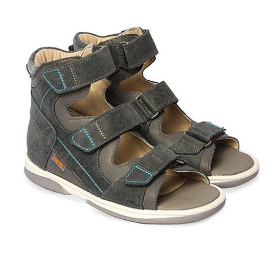 Memo Lukas sandal, grå - med ekstra støtte