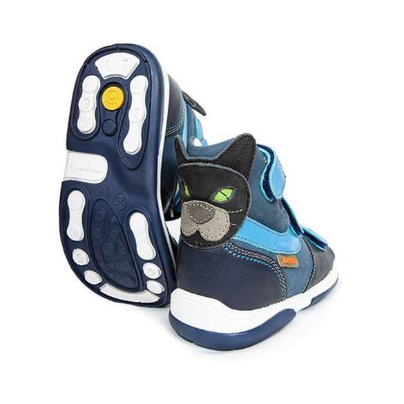 Memo sandal Kat, blå - sandaler med ekstra støtte