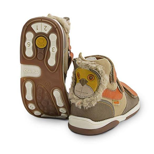 Memo sandal Løve, brun/orange - sandaler med ekstra støtte