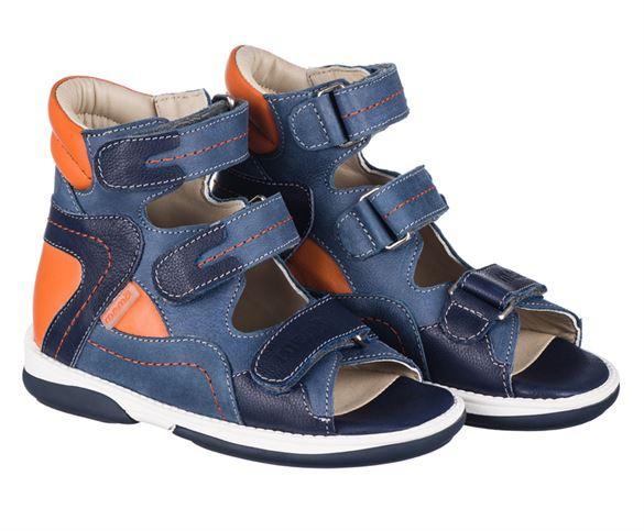 Memo Michael, sandal, blå/orange - sandaler med ekstra støtte