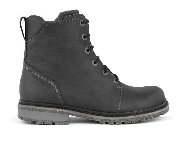 New Feet ankelstøvler m. snøre/lynlås, sort