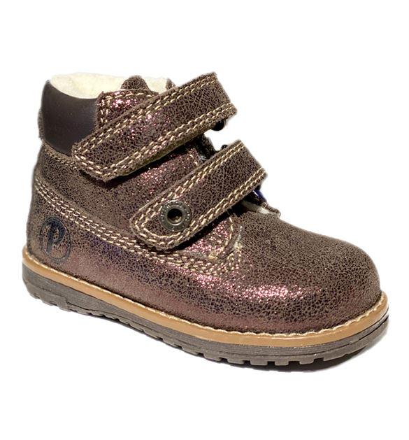 Image of   Primigi 24129 ørkenstøvle med velcro, metallic brun