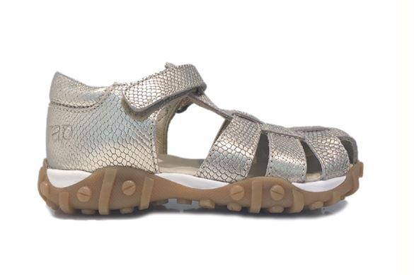 Image of   Arautorap (RAP) sandal med lukket hæl, guld