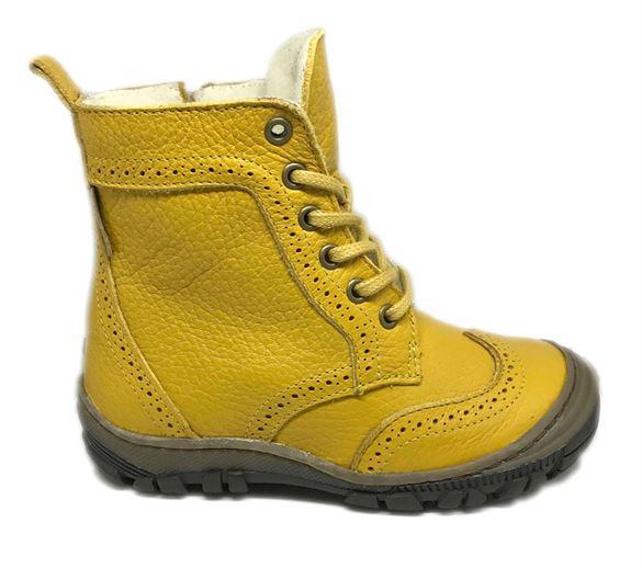 Image of   Arauto RAP vinterstøvler med snøre/lynlås, gul