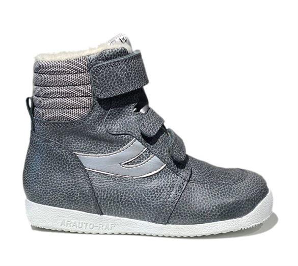 Arautorap (RAP) grå sporty velcro vinterstøvler