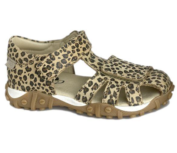 Image of   Arauto RAP sandal med lukket hæl, leopard