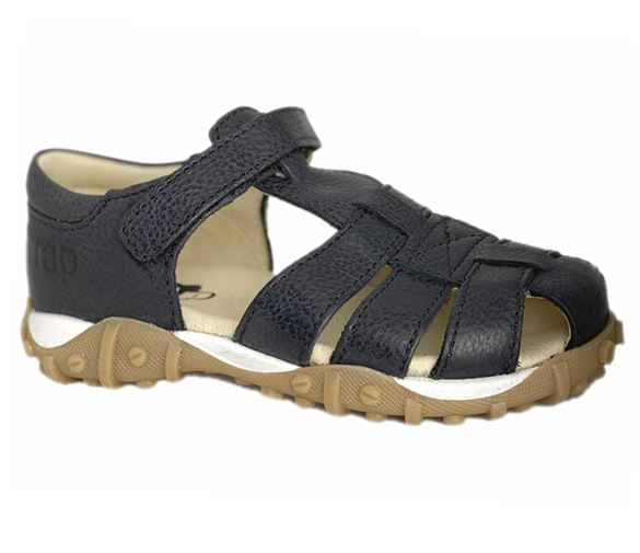 Image of Arautorap (RAP) sandal med lukket hæl, sort (Arautorap-12148-sort)