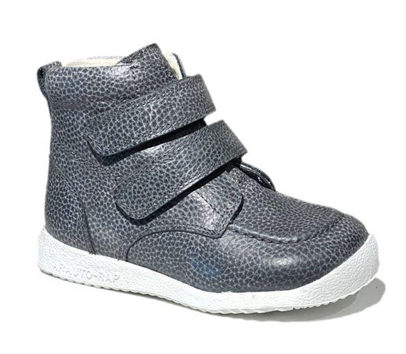 Arautorap (RAP) kort grå sporty velcro vinterstøvler