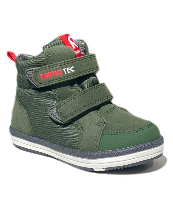 Image of Alternativ til gummistøvler - med god støtte, khaki grøn (Reima-Patter-army-FW20-23)