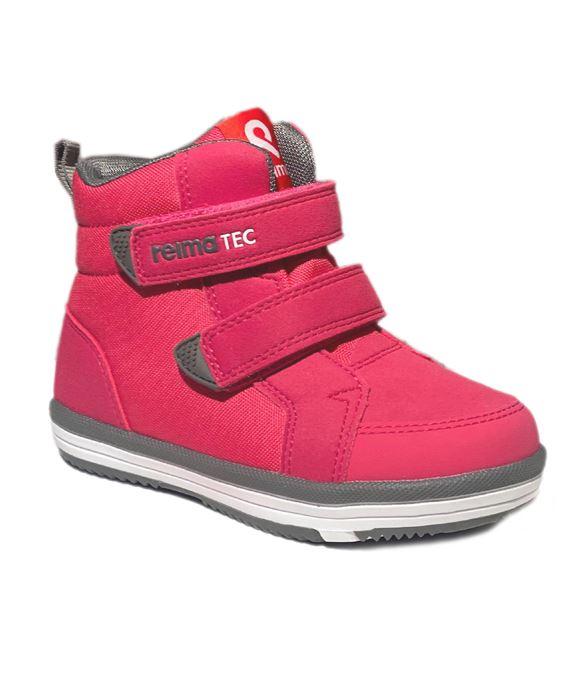 Image of Alternativ til gummistøvler - med god støtte, raspberry pink (Reima-Patter-pinkgrey-32)