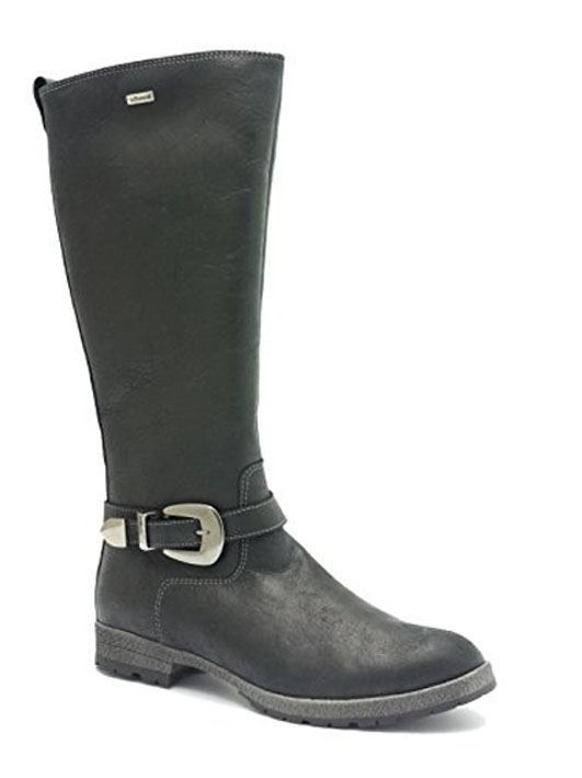 Billede af Richter 4253 222, lang støvle i sort skind