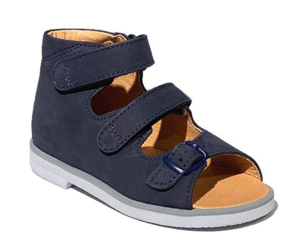 Richter sandal, marine - sandaler med ekstra støtte (Mørk sål)