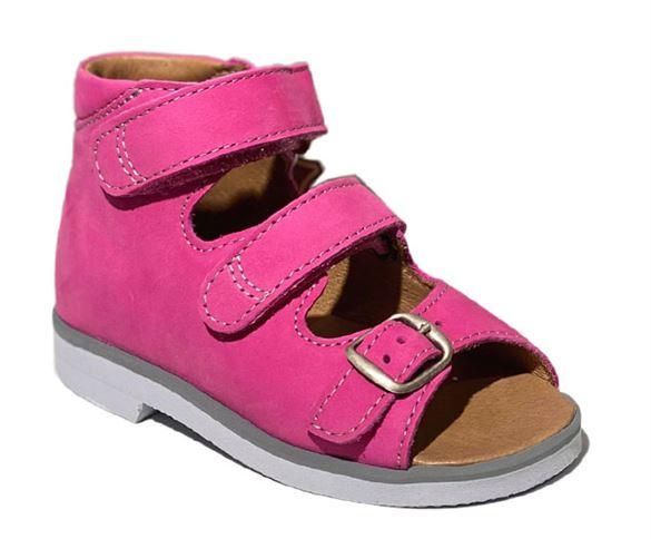Richter pigesandal, pink - pigesandal med ekstra støtte (Mørk sål)