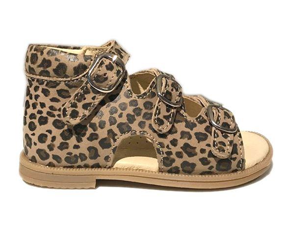 Image of Sandal 'ala BabyBotte', leopard (Rap-12172-03-leo-25)